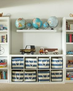 PLAYROOM ORGANIZATION USING BINS & BASKETS