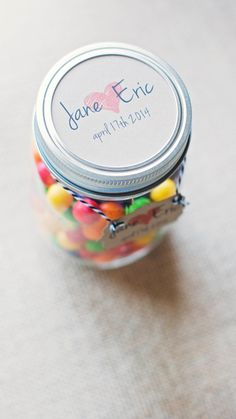 Personalized Mason Jar Lid Inserts/Tags 50 count by NaomiAndrews, $30.00
