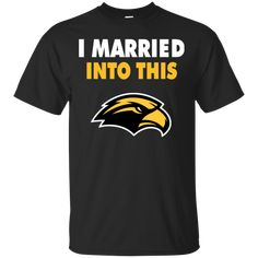0c496575627 Southern Miss Golden Eagles I Married Into This XL Black T-shirt Hoodie  Sweater