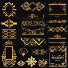 27709683-Art-Deco-Vintage-Frames-and-Design-Elements-in-vector-Stock-Vector.jpg (1300×1300)