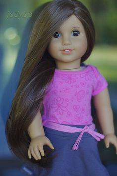 DELIGHTFUL Custom American Girl Doll Julie with Marie-Grace wig OOAK #DollswithClothingAccessories