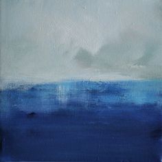 Seascape 93 - Original abstract seascape painting 8x8 Inch