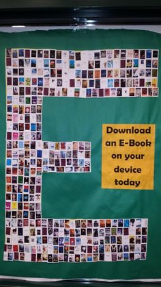 eBook promo : e made of cover images of available books I would also put a qr code for the book, too. Great display idea