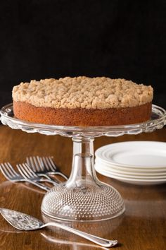 Topped with a sweet, buttery crumble, this easy overnight coffee cake is super moist and perfect for holidays and lazy weekends.