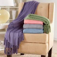 Throw 100 Bamboo Rayon Herringbone Pattern Vern Yip Home Purple Blanket Vern Yip, House Furniture Design, Bamboo Rayon, Herringbone Pattern, Soft Colors, Wall Colors, Warm And Cozy, Just In Case, Things To Sell