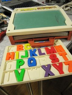 I bought this entire set with all the letters,  cards and original chalk for $3 at a garage sale.