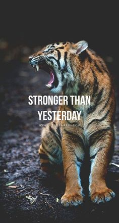 Quotes for Motivation and Inspiration QUOTATION – Image : As the quote says – Description You are so much stronger than you think! Head over to www.V3Apparel.com/MadeToMotivate to download this wallpaper and many more for motivation on the go! / Fitness M