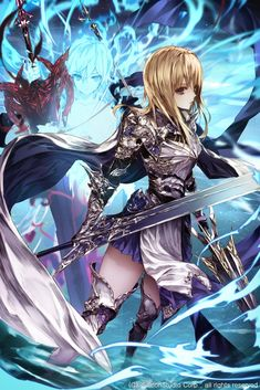 Game Character, Character Design, Age Of Ishtaria, Kato, The Magicians, Knight, Anime Art, Artist, Fictional Characters