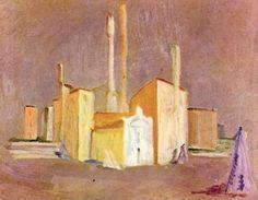 Vittorio Viviani, Campo S.Angelo, oil on canvas, 50x60cm, 1950