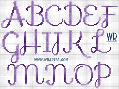 WR Artes (Blog do Wagner Reis): Alfabeto cursivo e simples de ...