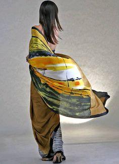 Satya Paul saree: a work of art in every sense.
