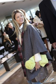 New York Fashion Week street style. Layering with scarves, coats and add colour