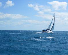Sailing Through the Exumas, in the Bahamas.