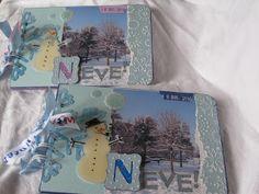 paperandco: Neve! Mini Books, Mini Albums, Polaroid Film, 1, Snow, Mini Scrapbooks