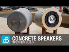 Concrete Speakers   Speaker Build - by SoundBlab - YouTube