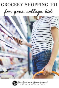 You've taken care of the clothes, classes, room decor, and mentally prepared for your daughter's move to college. But have you taught her how to shop on a budget? Here's how!  motherhood, mom life, momlife, boymom, girlmom, parenting, advice for moms, mommy life, tips for moms, encouragement for Moms, college mom, college how-to  #gritandgracelife