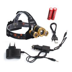 z30 Led Headlight Zoom headlamp XM-L T6+2Q5 7000lm Head lamp Flashlight Head Torch with Rechargeable 18650 battery and chargers #Affiliate