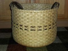 Collectibles Creative Vintage Or Antique Fine Primitive Folk Art Woven Basket Bamboo Reeds Finely Made Superior Performance