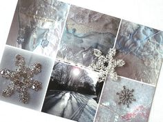 CAROLYN SAXBY TEXTILES - ice card with crystal snowflakes - I've been busy making snowflakes with pretty crystals Snowflake Decorations, Snowflake Ornaments, Christmas Ornaments, Crystal Snowflakes, Holly Leaf, How To Make Tea, Textile Artists, Winter Theme, Card Sizes