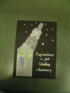 Anniversary card in Parchment