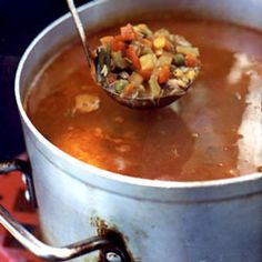 Maryland Crab Soup by Saveur. This tasty soup is a great way to use up the corn and steamed crab left over from a crab feast. Crab Recipes, Soup Recipes, Cooking Recipes, Healthy Recipes, Potato Recipes, Cooking Ideas, Vegetable Recipes, Vegetarian Recipes, Dinner Recipes