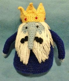 Adventure Time amigurumi - The Ice King