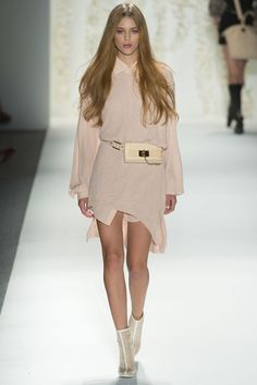 Rachel Zoe Spring 2013 Ready-to-Wear  Okay, Rachel Zoe annoys the piss out of me, but I want to steal this entire look off this girl and put it on--it's so pretty!!!  Well, minus the fanny pack.