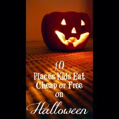 Be sure to head to the link in my profile to find out where kids eat for FREE on Halloween!
