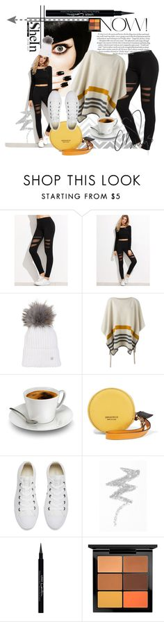 """""""black leggins"""" by vanessahandmade ❤ liked on Polyvore featuring Seed Design, Bogner, Chloé, Emilio Pucci, Converse, Love Quotes Scarves, NYX, Givenchy and MAC Cosmetics"""