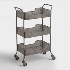 Update your home office with our stylish and functional Zinc Yvette Metal Circle Cart. Featuring punched metal constructed for an industrial feel, it offers three trays to store and organize mail, files, office supplies and more. Decor, Furniture, Home Office Furniture, Metal Cart, Industrial Chic Furniture, Farmhouse Dining Room, Home Office Accessories, Wood Shelves, Trendy Home