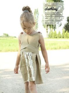 Siiri toddler DRESS pattern  easy children by AmelieClothing, $7.99