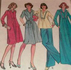 Sewing Pattern Pants UNCUT Wide Leg Bell by hookandneedlepattern, $8.00
