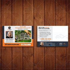 Newly Listed Direct Mailer, Realtor Branding Postcard, Real Estate Agent Marketing, Custom Postcard Template. by CreativeEtsyDesigns on Etsy