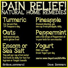 Natural remedies for pain