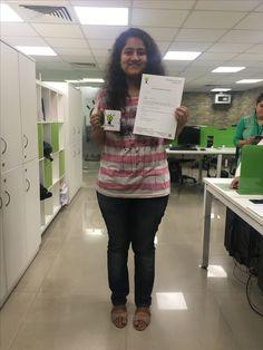 "Internships are now ""The new first job."" Congratulations Nimisha, keep rocking. #3rdEyeAdvisory #LearnAt3rdEyeAdvisory"