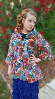 Summer Floral Jacket Shannasthreads.com