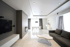 Minimal Style and White Colour Theme of House 02 by Ramunas Manikas - CAANdesign