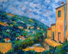Great lesson that shows you the painting steps How to paint with Cezanne