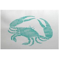 Simply Daisy 2' x 3' Crab Animal Print Indoor Rug, Blue