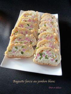 Baguette farcie au jambon blanc : Diet & Délices - Recettes dietétiques