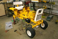 This is a ground up restoration. Just incase your confused and think a rattle can of paint equals the same. Yard Tractors, Lawn Mower Tractor, Farmall Tractors, Chainsaw Mill Plans, Small Garden Tractor, Cub Cadet Tractors, Minneapolis Moline, Riding Lawn Mowers, Vintage Tractors