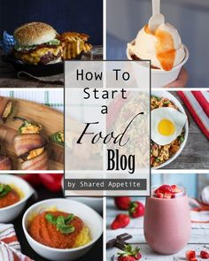 How To Start A Food Blog. A simple guide on how to get started in the crazy world of food blogging.