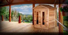 Rustic Saunas, Sauna Lights, Cedar Cabin, Outdoor Sauna, Steam Sauna, Western Red Cedar, Home Spa, Log Homes, My Dream Home
