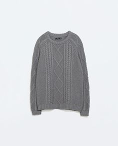 CABLE KNIT SWEATER from Zara $29.99