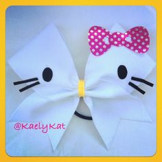 Hello kitty cheer bow!