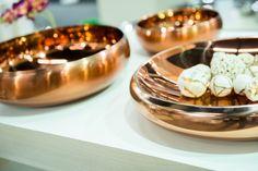 Lançamento Tyyli Home no 30º ABUP SHOW. Peças em aço inox com acabamento em cobre.