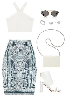 """""""Untitled #164"""" by noora1998 ❤ liked on Polyvore featuring Nine West, Hervé Léger, BCBGMAXAZRIA, IRO, Illesteva and Michael Kors"""