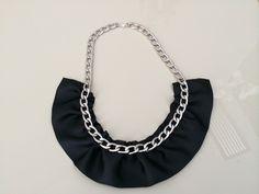 Collar con cadena y tela fruncida de la nueva colección de Nanuk accessoris.  https://www.facebook.com/nanukaccessoris