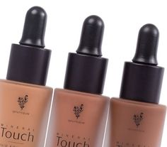 TOUCH MINERAL LIQUID FOUNDATION Brand New Shades Chenille, Suede and Georgette www.crazybeautygirl.com