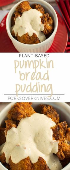 Chewy bread in a decadent, creamy pumpkin custard, this is the perfect dessert to put front and center on the Thanksgiving table. Serve with Vanilla Bean Whip. From Forks Over Knives ­— The Cookbook Instructions: Preheat the oven to 350ºF. Have... Read more